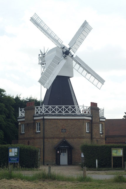 Wimbledon windmill now houses a windmill museum