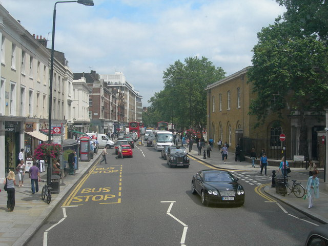 A view of the King's Road, towards Sloane Square