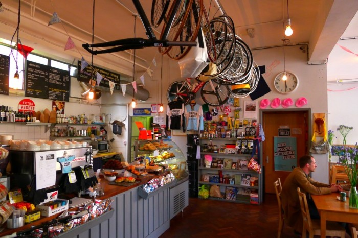 Look Mum No Hands! is a really cool bicycle-themed cafe in Clerkenwell