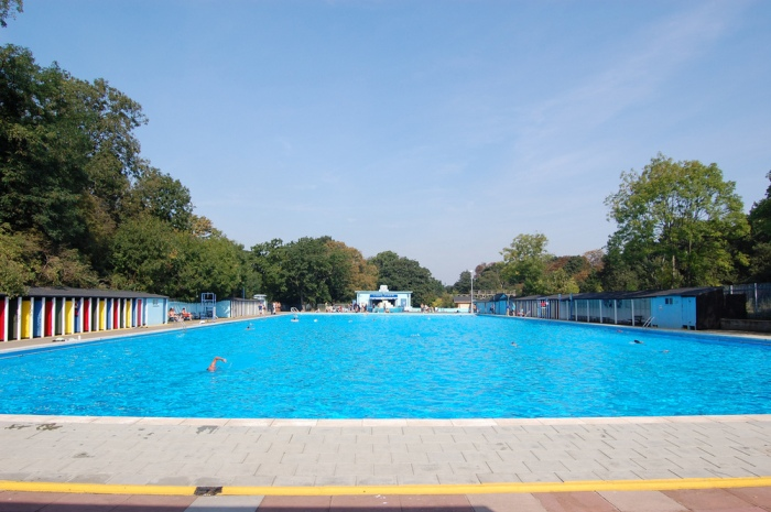 Tooting Bec Lido - unlikely to be sunny when you visit