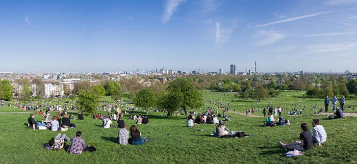 Primrose Hill Park offers stunning views over London