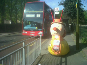 Even a snail can out-run a bus